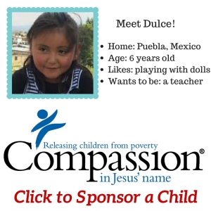 My first time sponsoring a child in poverty