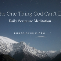 The One Thing God Can't Do