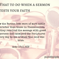 What to do when a sermon tests your faith